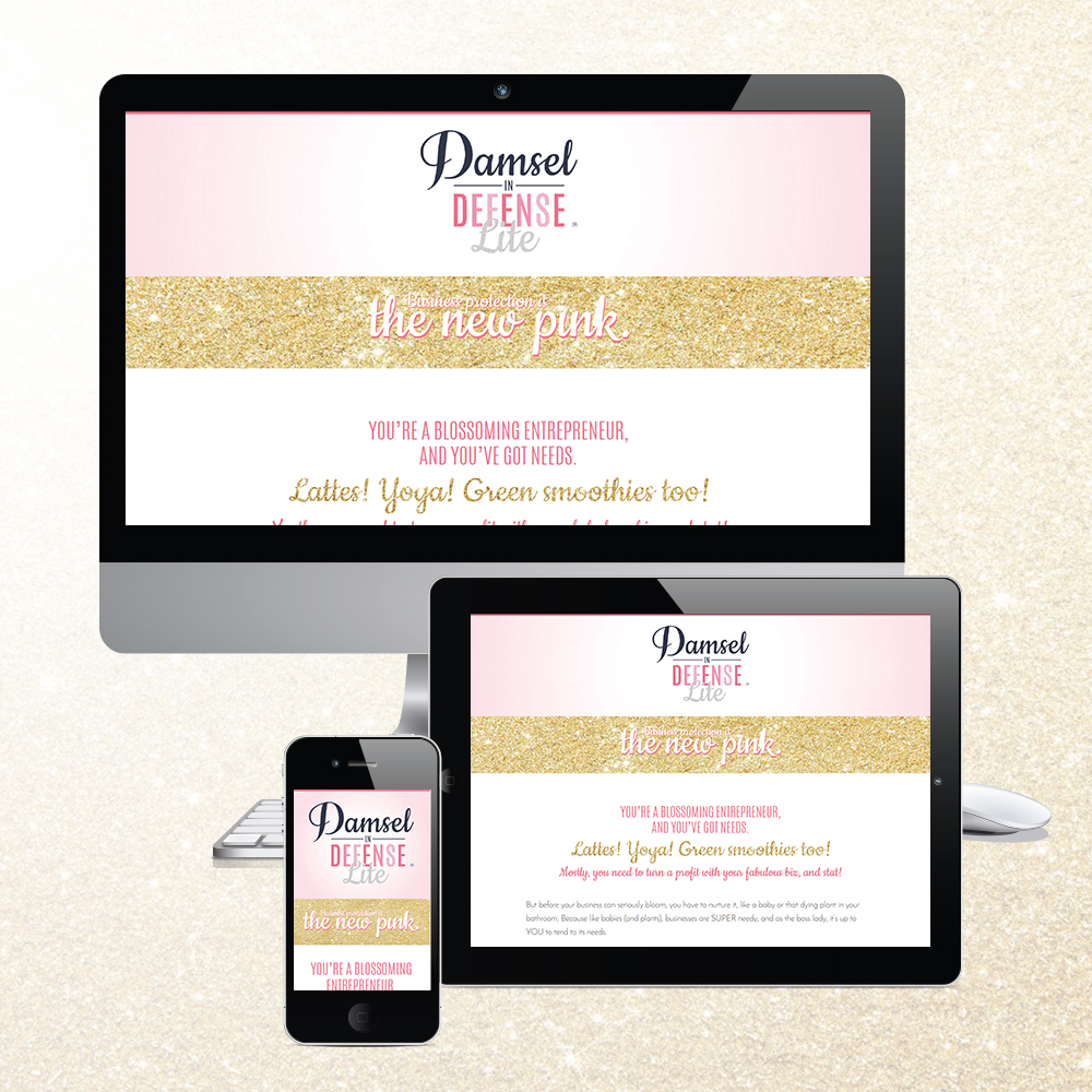 Client Sales Page Design - Damsel in Defense