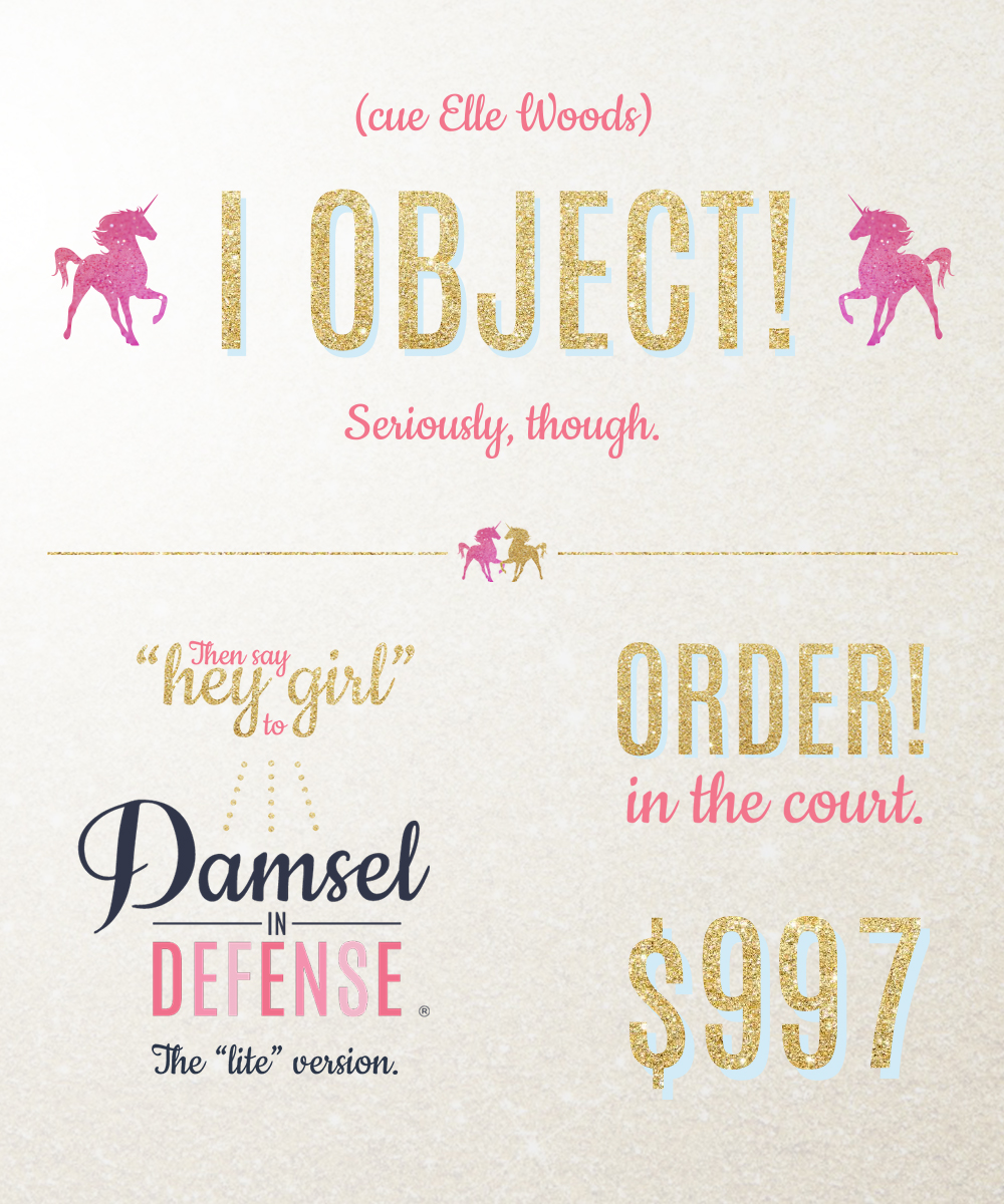 Custom Sales Page Images, Gold & Glitter & Unicorns